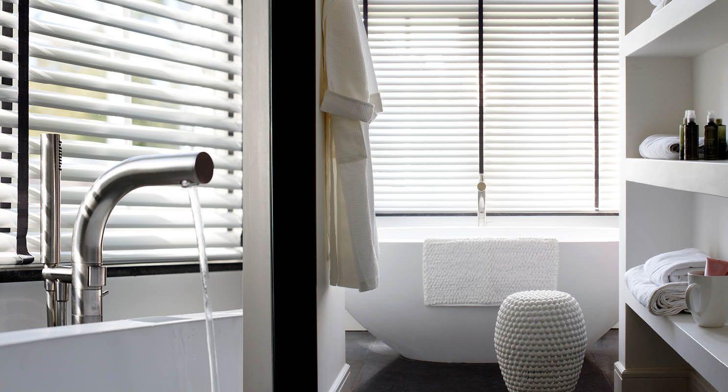 Vocht en vuilbestendige raamdecoratie schoneveld interieur in